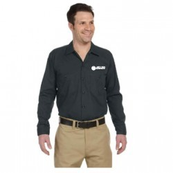 DICKIES LONG SLEEVE WORK SHIRT WITH MELLING ENGINES LOGO EMBROIDERED