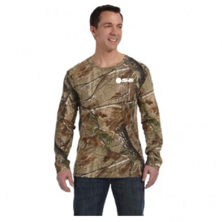 REALTREE CAMOUFLAGE LONG SLEEVE T-SHIRT WITH MELLING LOGO EMBROIDERED