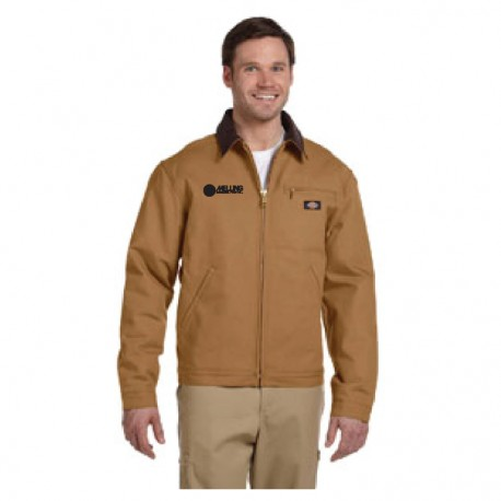 DICKIES DUCK BLANKET LINED JACKET WITH MELLING LOGO EMBROIDERED