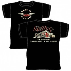 MELLING CAMSHAFTS & OIL PUMPS T-SHIRTS